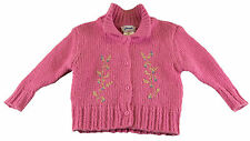 JACADI Girl's Aquilin Bengal Pink Long Sleeve Cardigan Sz: 2 Years NWT $94