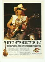 Dickey Betts Les Paul Gibson Goldtop Print Ad Guitar Advertisement VTG 2001