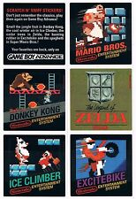 Nintendo Gameboy Advance Mario Zelda Donkey Kong Stratch N' Sniff Stickers