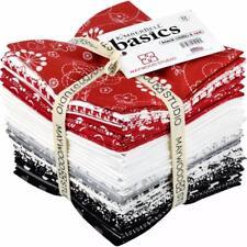 "Kimberbell Basics FQB ~Black,White & Red  ~ 32 Piece ~18"" x 22"" ~100% Cotton"