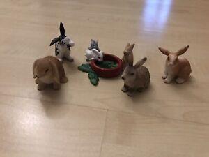 Schleich Tiere Hasen Kaninchen Konvolut