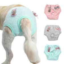 Washable Female Pet Dog Puppy Pants  Sanitary Pants Underpants XS-L Grey Pink