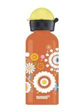 Sigg Girl Water Bottle BPA Free Kid Gilrs Bottles Orange 0.4L Flowers 873090 New