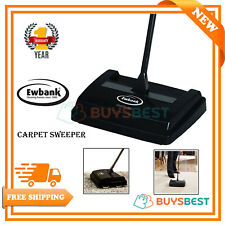 Ewbank Light Weight Handy Manual Speed Sweep Carpet Sweeper Cleaner Black EW2002