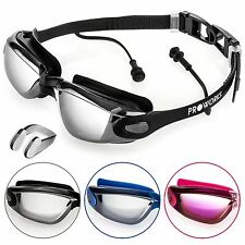 Proworks Swimming Goggles with Mirrored Lenses UV Protection and Anti-Fog