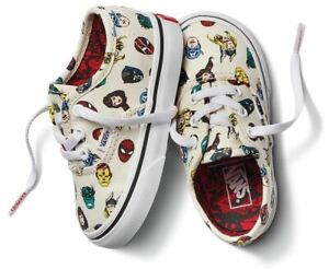 Vans Off The Wall Toddler X Marvel Authentic Shoes - Marvel Heads Multi