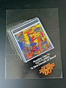 Original Gottlieb Amazing Spider-Man Pinball Promo Flyer Brochure Fold Out 1980