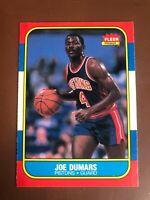 JOE DUMARS 1986-87 FLEER DETROIT PISTONS ROOKIE RC NBA #27 SET BREAK