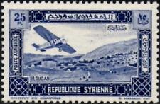 More details for syria 1934  airmail  25p. blue   sg.297 mint (hinged)  scott # c64