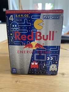 PAC MAN Limited Special Edition Red Bull Gamer Collector Unopened USA Soft Drink