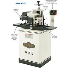 "Shop Fox W1812X—2 HP 7"" Planer / Moulder with Stand and Elliptical Jig"