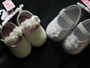 BABY GIRL SPECIAL OCCASION PRAM SHOES   2 DIFFERENT DESIGNS AVAILABLE