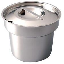 More details for vogue stainless steel round bain marie pot & lid soup pot 4ltr / 7pt