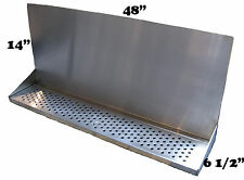 "Draft Beer Tower Wall Mt Drip Tray 48""  L w/S.S. Grill - drain # DTWM48SS"