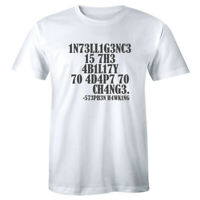 Intelligence Is The Ability Adapt Change Men's T-shirt Tee Geek Nerd Geeky Gift