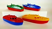 Vintage 1950'S Ideatoy Plastic Boats Lot Of 4