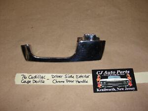 OEM 76 Cadillac Coupe Deville LEFT DRIVER SIDE EXTERIOR CHROME DOOR HANDLE
