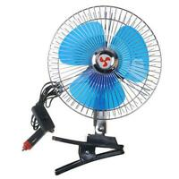 25W 8in Car Truck Oscillating Clip-on Air Fan Strong Wind Cooler (12V)