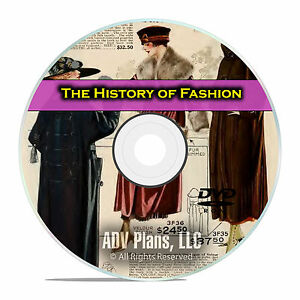 The History of Fashion, Clothing Design Images, Styles, Accessories, DVD E44