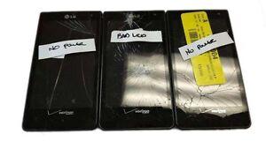 """3 lot LG Lucid VS840 Smartphone 4G LTE Android 8GB 4"""" GPS Verizon Locked Used"""