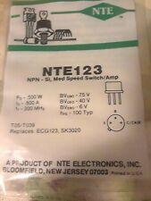 NTE123 NPN TRANSISTOR TO-39 REPL ECG123