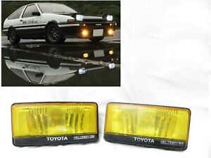 Geunine AE86 OEM Toyota Corolla Trueno Levin AW11 MR2 HOLOGEN YELLOW Fog Lights
