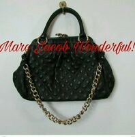 GREAT CONDITION! MARC JACOBS PURSE BLACK QUILTED LEATHER  W GOLD CHAIN
