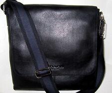 Coach Sullivan F72108 Men's Messenger Bag Black Leather New NWT $375