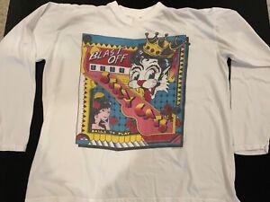 Stray Cats Vintage UK Rare 1989 Blast Off Long Sleeve Shirt Brian Setzer Size XL