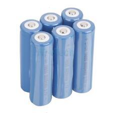 6pcs 18650 3.7V-4.2V 5000MAH Li-ion Neutral Rechargeable Battery Set Deep Blue
