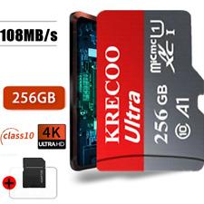 Micro Flash Memory Card 256GB 128GB 64GB 108MB/s Class 10 High Speed&Adapter NEW
