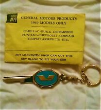 VINTAGE GOLD PLATED KEY FITS CHEVROLET PONTIAC OLDS BUICK CADILLAC 1969 73 77 81