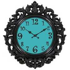 Turquoise Victorian Wall Clock    teenage girly room decor baroque-style design