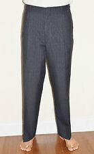 "Vintage 60's Men's Gray Plaid Striped Pants Trousers - 37 1/2"" W 28 1/2"" I"