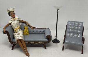 barbie furniture (formal Living Room) 1:6 Scale OOAK Custom Painted Floor Lamp