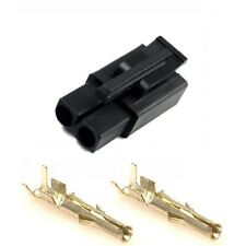 Battery Charger Connector Plug with Terminals (Accumate Compatible) BLACK