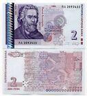 Bulgarie - Bulgaria billet neuf de 2 leva pick 115 UNC