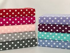 7mm Polka Dot 100% Cotton Fabric, Sewing, Craft, Spots, Red, Pink, Grey, Green