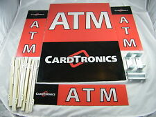 Triton ~ 9100 Atm ~ Lot Of 4 ~ Plastic Cardtronics Atm Signs And Frames