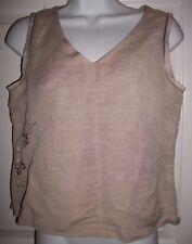 Harve Benard Women's Light Brown Linen Blend Top Shirt size 4