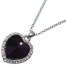 8.88ct Corte Corazón Estilo forma Amatista violeta Circonita Cúbica 18ct