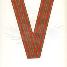 BRITISH ARMY RIBBON MEDAL BELGIAN CROIX DE GUERRE 1918 WOVEN RED & GREEN TRIM UK