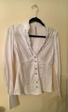 RIVER ISLAND White Dressy Shirt with diamante detailing - BRAND NEW WITH TAGS!