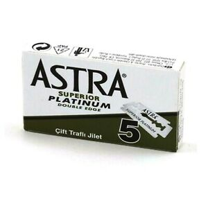 Astra Green Superior Platinum | Double Edge Razor Blades | Premium Safety DE