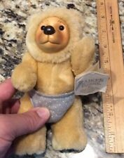 ROBERT RAIKES BEARS teddy toy 1990 Applause Nursery Miniatures carved wood