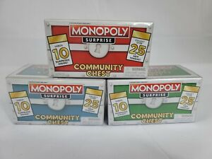 Green Blue Red Set Monopoly Surprise Community Chest Exclusive Tokens Board Game