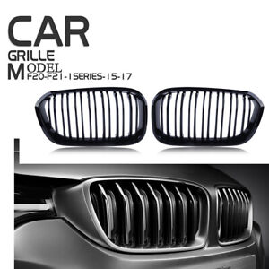 for BMW F20 F21 2015-2017 Facelift 1-Serie Front Kidney Grille Grill Gloss Black