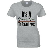 Grey's Anatomy It's A Beautiful Day to Save Lives Ladies T-Shirt