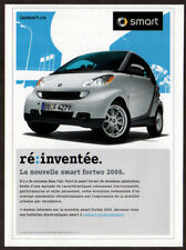 2008 SMART Fortwo Vintage Original Print AD - White car photo Canada French