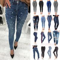 Womens Denim Jeans High Waist Stretchy Skinny Jeggings Elastic Trousers Pants US